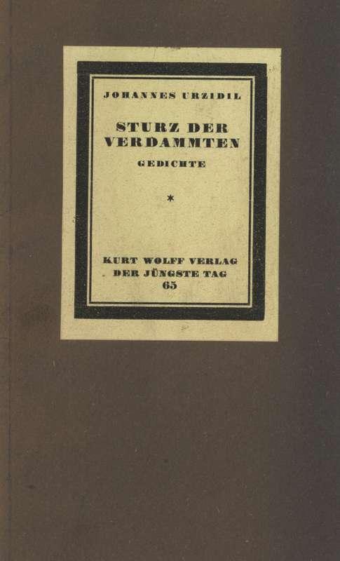 Sturz Der Verdammten Gedichte Project Gutenberg