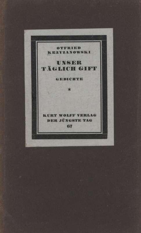 Unser Täglich Gift Gedichte Project Gutenberg Otfried